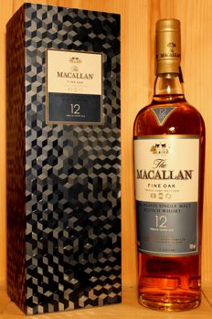 "Macallan Fine Oak 12 years old Limited Edition incl. rare orogonal Box ""Bling box"", 40%vol. 700ml"