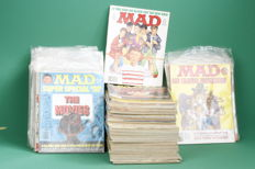 Large lot Original MAD Mags. American issues (English) of Ca. 1968 to early 1990s