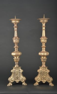 Antique set Italian candlesticks, early 20th century