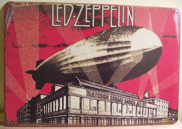 Led Zeppelin Madison Square Garden retro style metal wall sign. 20 cm x 30 cm approx'
