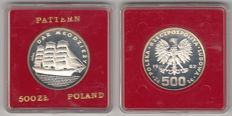 "Poland - 500 Zloty 1982 (Probe) ""Sailing ship Dar Pomorza"" - silver"