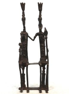 Primordial bronze couple - DOGON - Mali