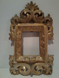 Small Baroque gilded wooden frame - Italy - 18th century