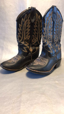 Western leather children's cowboy boots Vintage