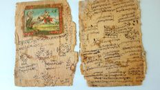 Manuscript; Two handwritten pages from India - c. 1890