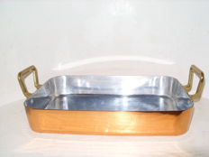 A real French copper baking dish, rare model
