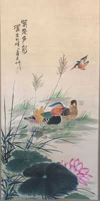 Hand painted  scrolls painting - China - late 20th century