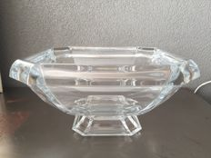 Heavy crystal glass bowl JG Durand