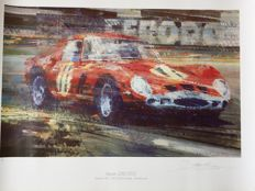 Ferrari 250 GTO - Poster in limited edition and signed by Dexter Brown - 1980