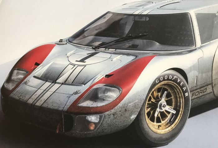 Ford Collection Fine Art Print Ford Gt  Mkii A   Hours Of Le Mans  Cm X Cm