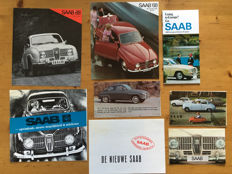 Saab 95, 96, V4 - 8 sales brochures from 1964 to 1968