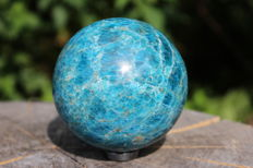 Fine Blue Apatite sphere - 80 mm - 944 gm