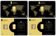 2 g of 999.9 Nadir Gold - 2 Gold Cards - CLASSIC EDITION - LBMA certificate - Karatbars Int. GmbH - Germany