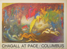 Marc Chagall - Pace Gallery, Columbus - 1977 - Original exhibition poster