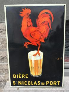 Enamel advertising sign bière St Nicolas de Port