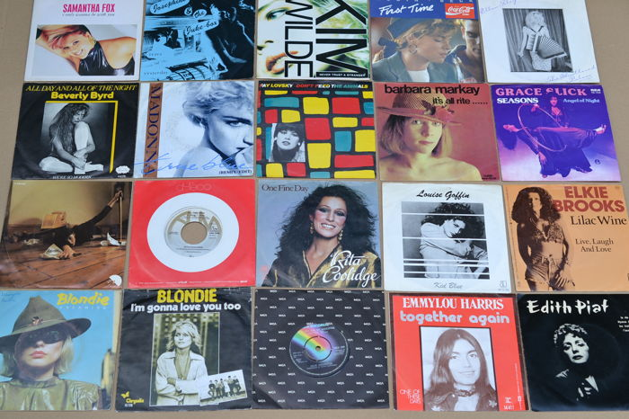 nice lot of 20 poprock/countryrock/dance singles from the 70's & 80's by USA & European female singers