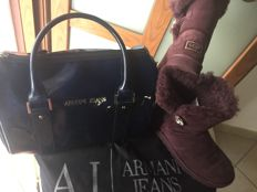 Armani Jeans, bag - UGG - Bailey button bling - boots with sheep fur