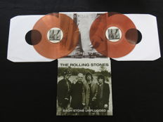Rolling Stones - Great lot of 2 albums (3LP's): Anybody Seen My Baby? (The Official Black Album) (2LP, coloured vinyl) & Each Stone Unplugged