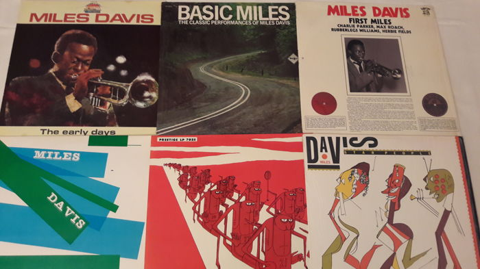 Miles Davis - 6 LP Album: Star People, Miles Davis and Horns, Blue Haze, First Miles, Basic Miles (Still Sealed), The Early Days   (Lot 61)