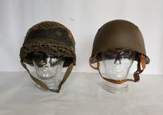 2 pcs Originel Combat  Helmets  - The Netherlands and Swiss