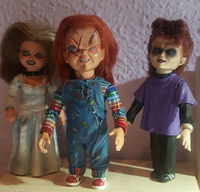 collection of chucky and his discontinued family with no reserve
