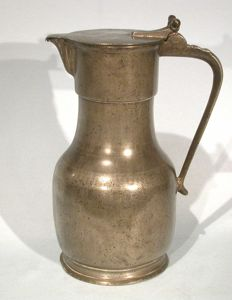 Pewter wine pitcher - Amiens (France), circa 1800