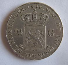 Netherlands - 2½ guilders 1840 Willem I - silver