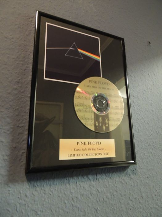 Stunning  Pink Floyd - The Dark Side Of The Moon - Limeted Collectors Disc - Framed.