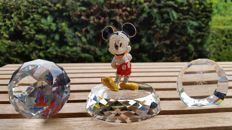 Arribas Mickey Mouse - display - paperweight - plaque 5-year anniversary