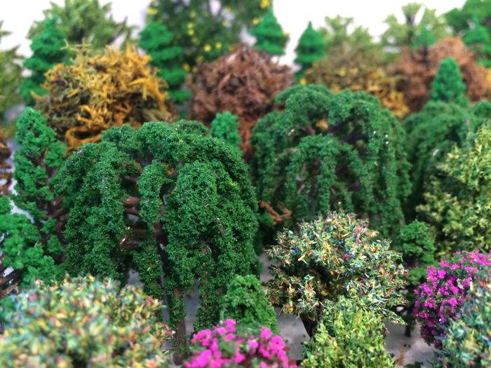 Scenery H0 - Lot with 190 model trees / trees - Catawiki