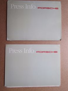 Porsche - Press kit, 2 kits 2 flaps, 5 books and 14 pictures. For the model 911 & Carrera 2 Speedster - 1993 Geneva fair
