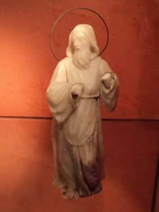 Alabaster sculpture of Saint Francis