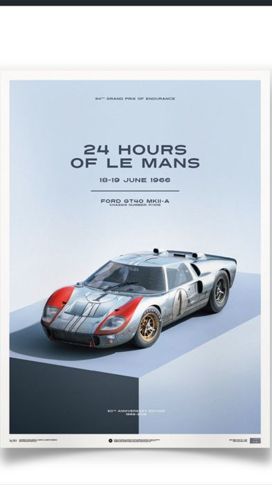 Ford Collection Fine Art Print Ford Gt  Mkii A