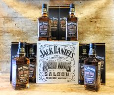 Jack Daniel's Red Dog Saloon 125th anniversary - Limited Edition in original boxes - 6 Bottles in original outer box
