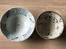 Lot of two Tek Sing cargo shipwreck bowls - China - 19th century