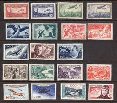 France 1930-1959 – Selection Airmail – Yvert PA between no. 5 and 37.