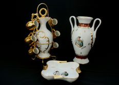 Vase, Ashtray and Carafe with Cups Napoleon and Josephine