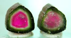 Natural Watermelon Tourmaline Slice Pair - 18.80 cts  (2)