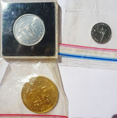 West African States - 1 Franc to 25 Francs 1961/1980 Essay (lot of 3 coins)