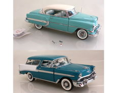Franklin Mint - Scale 1/24 - Chevrolet Bel Air 1954 and Chevrolet Nomad Wagon 1956