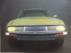 "1970 - CITROEN ""SM"" Coupé Grand Tourisme - 2,7 V6 Maserati engine - Rare original sales brochure"