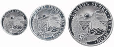 "Armenia – 100, 200 and 500 Dram 2012 ""Noah's Ark"" – ¼, ½ and 1 oz silver"