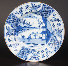 Blue-white porcelain plate - China - first half of the eighteenth century