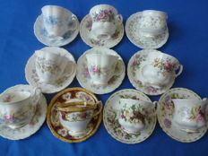 Royal Albert - 20 piece English Cups & Saucers - Bone China England