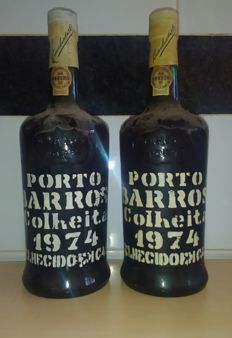 1974 Colheita Port Barros - bottled in 1986 - 2 bottles overall