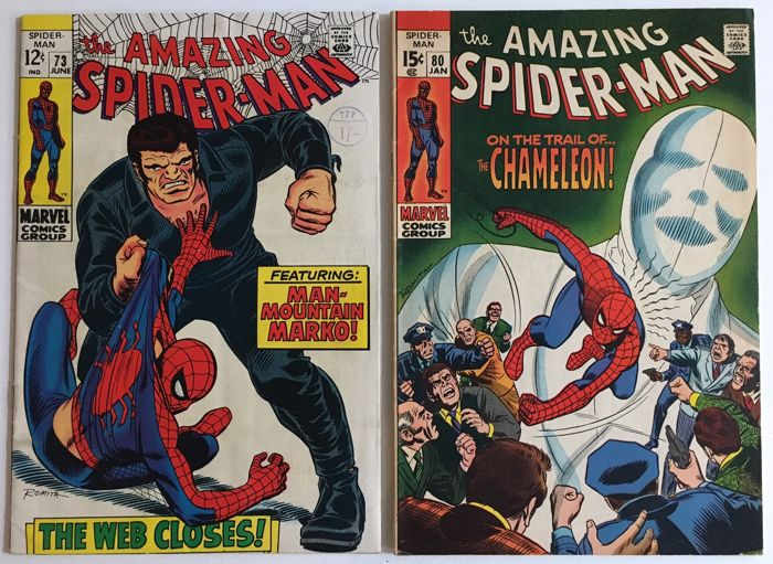 Marvel Comics - The Amazing Spider-Man #73 & #80 - 2x sc - (1969)