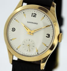 Garrard - Vintage 9K Yellow Gold Manual Winding Service Award Wristwatch, London 1966