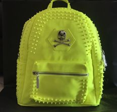 Philipp Plein – 'Soveriegn' fluorescent leather backpack – SS17 collection – Like new