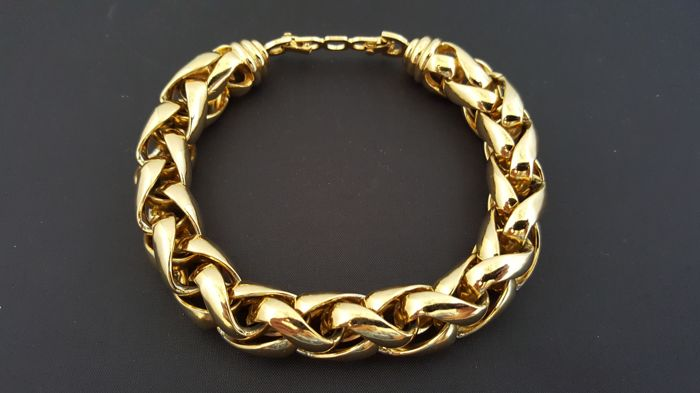 485866e5df2b33 Christian Dior vintage gold plated chain bracelet - Catawiki