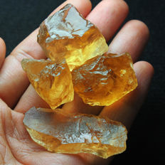 Natural Lemon Citrine Facet Rough Specimen - 276.60 ct (4)